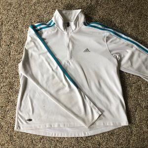 Adidas Climalite Striped Pullover
